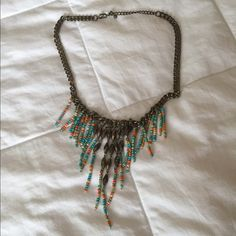 Beaded statement necklace Beaded statement necklace. Light and easy to wear. Jewelry Necklaces