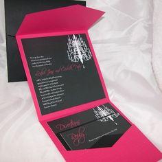 Chandelier Wedding Invitation sample by MilestoneMoment on Etsy, $12.00