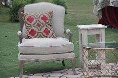 Ask about our french upholstered collection @ Beachview Event Rentals & Design