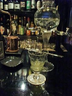 Nary a few minutes' walk from JR Ebisu Station's West Exit, just a turn around the corner from What the Dickens!, lie two rarities in Japan's drinking scene: Bar Tram and Bar Trench. What makes them extraordinary is the libation they specialize in: absinthe.