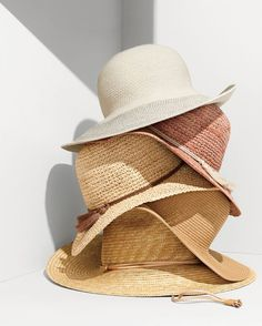 """Portable shade. Aka the J.Crew women's collection of crocheted and embellished straw hats that you can totally pass off as """"yeah, picked this up at the souk..."""""""