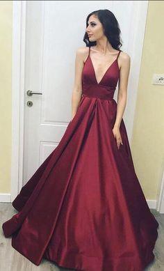 Simple Prom Dress,Sexy Prom Dress,Burgundy Prom Dress, Cheap