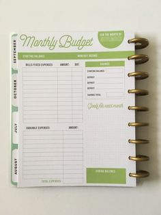 planning a budget Monthly Budget Planner, Budget Binder, Planner Tips, Financial Planner, Planner Layout, Planner Pages, Happy Planner, Printable Planner, Planner Stickers