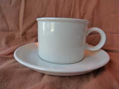 Midwinter Ltd Stonehenge White Cup Saucer England Oven to Tableware by GrandmothersTable on Etsy White Cups, Stonehenge, Etsy Shipping, Cup And Saucer, Oven, England, Dishes, Mugs, Dining
