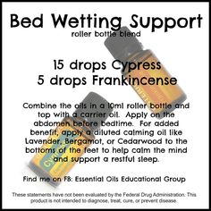 Essential oils for bed wetting Essential Oils For Babies, Essential Oil Uses, Natural Essential Oils, Young Living Essential Oils, Natural Oils, Roller Bottle Recipes, Bed Wetting, Young Living Oils, Doterra Essential Oils