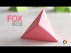How to make Origami Fox Box - YouTube