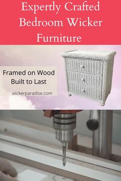 Expertly crafted wicker dressers and wicker bedroom furniture. Framed on wood, these bedroom decor ideas are wonderful for guests rooms, master bedrooms. Easy glide roller system made to last. wickerparadise.com #bedroom #dresser #wicker #wickerbedroom