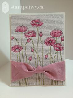Pleasant Poppies from Stampin  Up!