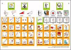 MATERIALES - Libros de Comunicación Aumentativa y Alternativa: Libro de la salud.  http://arasaac.org/materiales.php?id_material=553