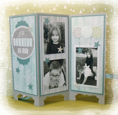 This mini is easily conceivable throughout the year on all themes. Mini Albums Photo, Mini Albums Scrap, Emotions Cards, Screen Cards, All Themes, Shaped Cards, Home And Deco, 3d Projects, Scrapbooking
