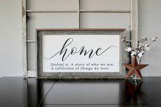Rustic Home Decor, Farmhouse Decor, Home Signs, Definition of Home Sign, Farmhouse Sign, Entryway Decor, Cottage Sign, Farmhouse, Entry Way  #Promotion… #PaidAd #ad #affiliatelink