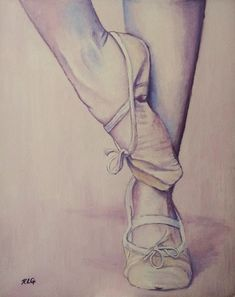 "Saatchi Online Artist: Ruth Goring; Oil 2013 Painting ""Ballerina 35"""