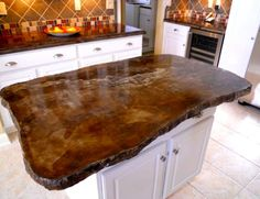Supreme Kitchen Remodeling Choosing Your New Kitchen Countertops Ideas. Mind Blowing Kitchen Remodeling Choosing Your New Kitchen Countertops Ideas. Cement Countertops, Outdoor Kitchen Countertops, Kitchen Countertop Materials, Concrete Kitchen, Granite Kitchen, Concrete Floors, Concrete Bar Top, Countertop Options, Concrete Table