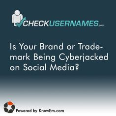 Username Search for the most popular Social Media and Social Networking sites.  Check for your brand, trademark, product or user name on 160 Social Networks.