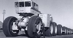 LeTourneau TC-497 Overland - The amazingly paranoid US government of the 1950s had the Texan company LeTourneau design these wheeled land trains which could operate without the need for railway lines. This would presumably help us when the Ruskies nuked
