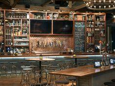 Bar counter, sport bar design, back bar design, pub design, pub i Design Bar Restaurant, Brewery Design, Modern Restaurant, Pub Interior, Bar Interior Design, Cafe Bar, Charleston Sc, Cafe Design, Restaurants