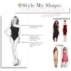 Style My Shape:Inverted Triangle-Dresses Inverted Triangle Outfits, Inverted Triangle Body, Triangle Body Shape, Short Waist, Asos Dress, Forever 21 Dresses, Body Shapes, Luxury Fashion, Women's Fashion