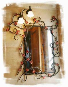 Trabajos de forja artística y acero corten de Olaya Herrería y Forja. Muebles para el baño fabricados para Los Caprichos de María.