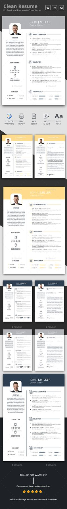 Resume - #Resumes Stationery Download here: https://graphicriver.net/item/resume/17317706?ref=alena994