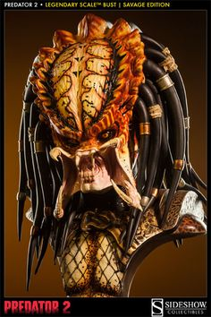 SIDESHOW COLLECTIBLES PREDATOR 2 SAVAGE EDITION LEGENDARY SCALE BUST UNLEASHED