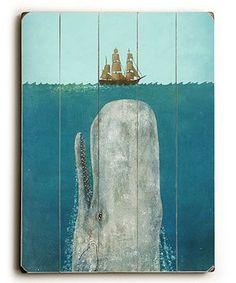 Terry Fan The Whale Wood Wall Art