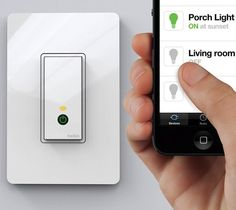 A must have, all the new gadgets! Turn your home lighting on or off from anywhere using your mobile with the Belkin Wi-Fi enabled WeMo Light Switch. Home Technology, Technology Gadgets, Gadgets And Gizmos, Tech Gadgets, Latest Gadgets, Android Ou Iphone, Android Smartphone, Android Apps, Tech Toys