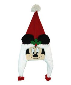 Take a look at this Mickey Critter Head Christmas Hat by Disney on #zulily today!