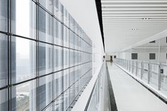 Image 5 of 19 from gallery of Jimo Scientific Creation Center / gad. Courtesy of zhao qiang Glass Porch, Hospital Architecture, Sustainable City, Internal Courtyard, Interior Concept, Facade Design, New City, Cladding, Geology