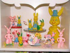 Hard plastic Easter figurines