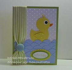 Stampin' Trim  Tasteful Trim  Debbie Henderson  Duck Punch Art