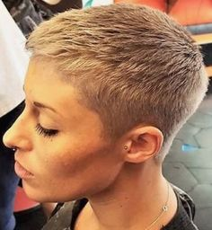Funky Short Haircuts, Short Spiky Hairstyles, Edgy Short Hair, Super Short Hair, Short Haircut Styles, Short Hairstyles For Women, Short Hair Cuts, Cute Hairstyles, Pixie Cut