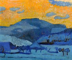 CUNO AMIET (Solothurn 1868-1961 Oschwand) Oschwand. 1924
