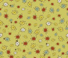 Berd Nerd Retro Mushroom Cap Shirt fabric by cynthiafrenette on Spoonflower - custom fabric