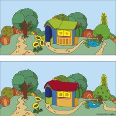 Find out the Differences - Spot The Difference Kids, 2. November, Dyslexia Activities, Picture Composition, Hidden Pictures, Hidden Objects, Puzzles For Kids, Learn English, Different