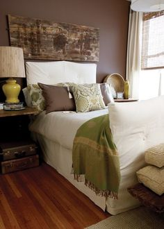 Boho- chic bedroom just needs a bit more color