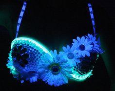 Items similar to El Wire light up rave mini zebra back pack on Etsy