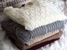 Comfy, oversized sweaters perfect for fall and winter! All are vintage and totally unique. No two sweaters are alike, but pick your desired color for