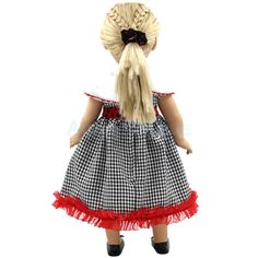 "Handmade Plaid Dress Round Collar Clothes Outfit for 18"" American Girl Doll"