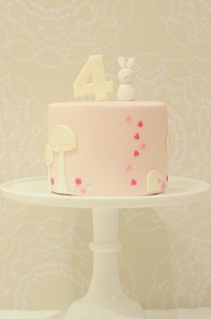 B-96 Do this on the bottom tier, and the upper tiers with random hearts...?  So cute!