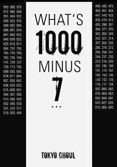 What's one thousand minus seven...