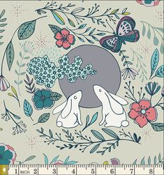 Modern Woodland Cotton Fabric  Art Gallery Nightfall