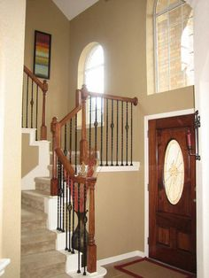 Photo Sharing and Video Hosting at Photobucket (SW Latte) Color Psychology, Paint Colors, Latte, Living Spaces, Sweet Home, Entryway, Stairs, Rustic, Painting