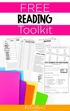 If you are a kindergarten, first, or second grade teacher, grab this FREE toolkit to help make your reading assessments easier and faster! It has tons of tools like checklists, comprehension questions, data trackers to help keep up with students' progress all year, and parent conference notes. Get it today! Guided Reading Activities, Guided Reading Lessons, Reading Comprehension Activities, Comprehension Questions, Reading Resources, Teaching Reading, Free Reading, Learning, Kindergarten Freebies