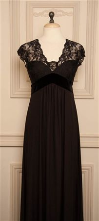 In Bloom by Jonquil Leticia black night gown