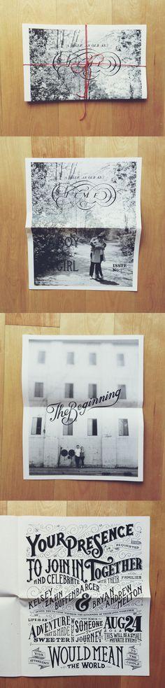 Invitación de boda original - invitación de boda en blanco y negro con fotografía