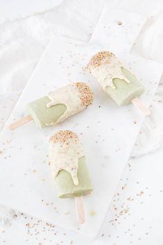 Matcha Eis mit Sesamkruste und die leckerste Schokolade der Welt!