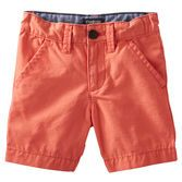 Paired with button-front tops, these crisp canvas shorts are essential for handsome outfits.<br>