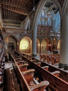 Oldest church in Berne ~The photographer says: The French Church in Berne, was first an old monastery. Now there is a church that fascinated me ever again. This is the organ or its special acoustics at concerts.