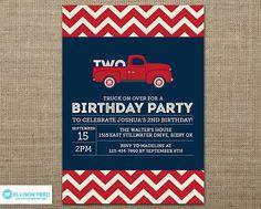 Truck Invitation  First Birthday Invitation Truck by EllisonReed, $16.00
