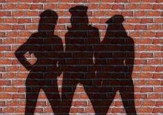 Women, Wall, Stones, Shadow, Silhouette